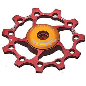 KCNC Jockey Wheel 10 Zähne ceramic bearing red